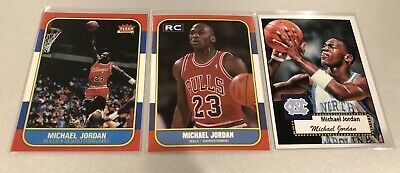 Michael Jordan Basketball Reprint Rookie Card Lot MINT