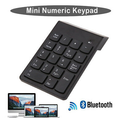 Wireless Bluetooth Number Pad Numeric Keypad 18 Key Digital Keyboard TC HO