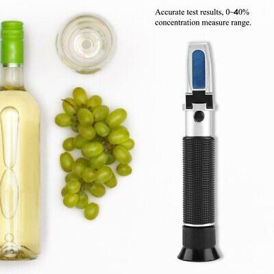 Refractometer For Grape Wine Brewing Dual Scale of 0-40% Brix & 0-25% Vol Tester