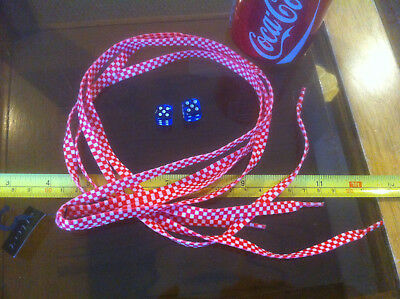 White Red Chequer Shoelaces Lases Laces Flirt New Shoe