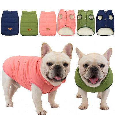 Pet Dog Puppy Coat Small Winter Warm Medium Large Dog Padded Clothes Jacket Vest