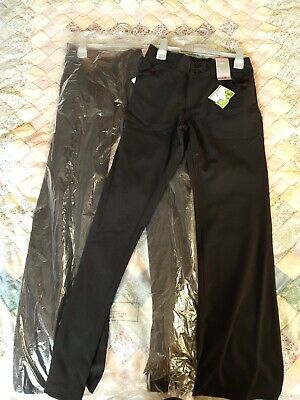 Girls Black School Trousers with Teflon Coating  Age 13 Years From Matalan x Two