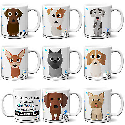 Personalised Dog Mug Funny Pet Cup Birthday Gift All Breeds