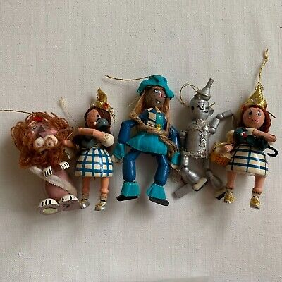 Vintage Wizard Of Oz Lot of 5 Christmas Ornament Collectible