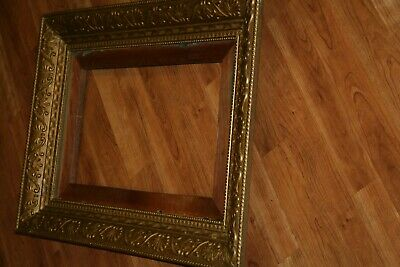 "Large Antique Ornate Wooden Picture Frame 28 1/2"" X 21 1/2"",GOLD TONE"