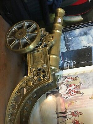 "Vintage Large Ornamental Solid Brass Cannon Heavy 7Kg 18"" Long"