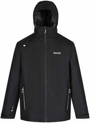 Blk Regatta Thornridge Mens Waterproof Windproof Jacket DkSpruce
