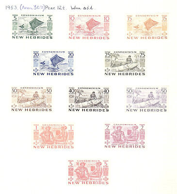 NEW HEBRIDES English Curr: Collection on old leaves with - 5462