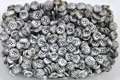S170 Small 15mm 24L Charcoal Grey Swirl 4 Hole Buttons Button Craft Sewing