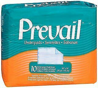 Prevail Extra Large Underpads 30 X 36 Inches - 4 pks of 10, Pack of 5