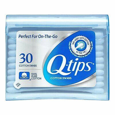 Q-tips Swabs Purse Pack 30 Each ( Pack of 36)