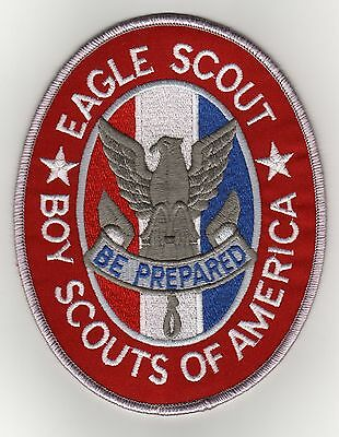 """White on Blue Sea Scout Trained Strip Patch Mint! w// /""""Since 1910/"""" Backing"""
