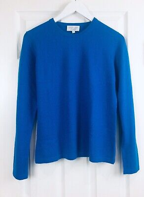 VAST LAND 100% Cashmere Crew Neck  Soft Warm  8 Sailor Blue Lovely  BNWT Gift S