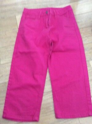 Girls 3/4 Length Pink Trousers Age 13Yrs