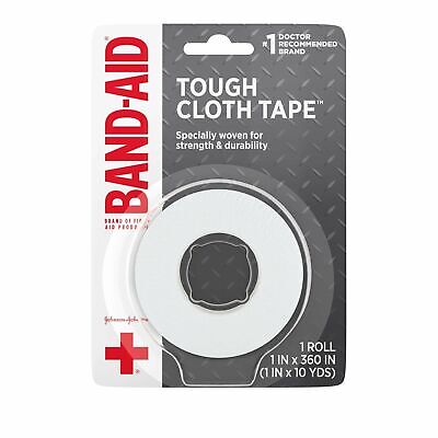 Johnson and Johnson Band-Aid Small 1 in. Cloth Tape 10 yd. Roll - 48 per case.