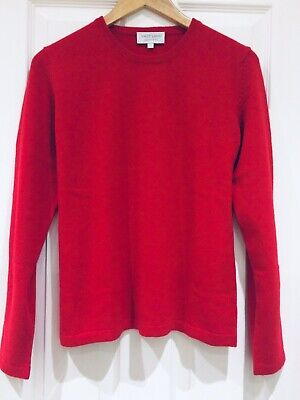 VAST LAND 100% Cashmere Crew Neck  L Soft Warm  Red Lovely  BNWT Gift 14 - 16