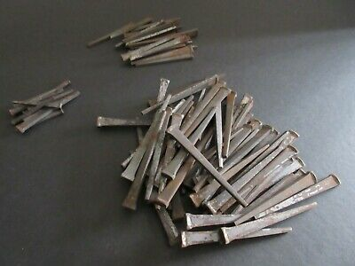 "Vintage Lot of 92  Square Cut Nails 3"" long, 2 1/4"" long, 1 1/2"" long"