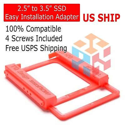 "2X 2.5/"" SSD HDD to 3.5/"" Mounting Adapter Bracket Tray Dock for PC SSD Holder ATX"