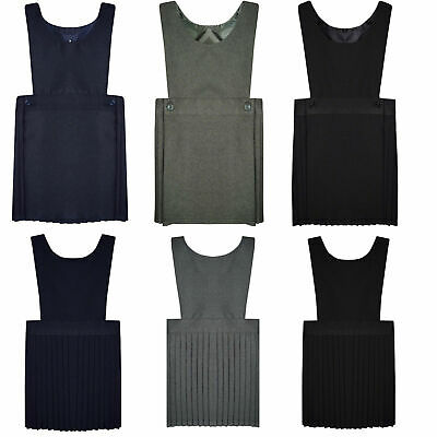 Bib Pinafore Pleated School Uniform Girls School Dress Top Quality Ages 2-3 -18
