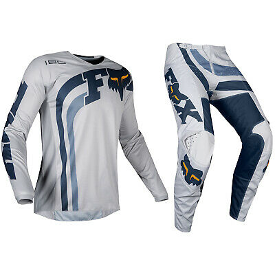 Fox Racing 180 Motocross MX Set Hose Trikot - Cota Grau