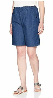 NEW Chic Classic Collection Women's Cotton Pull-on Elastic Waist Denim Short