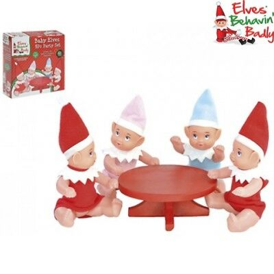 Christmas Naughty Elf Party Prop X4 Baby Elves & Table Elves Behavin Badly Toy