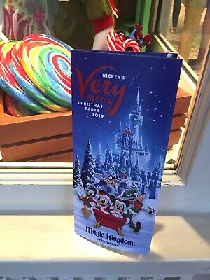 Mickey's Very Merry Christmas Party 2019 Guide Map Christmas WDW Brochure