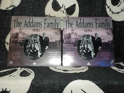 The Addams Family Vol 3 & 6 Laserdisc LD Free Ship $30 Orders