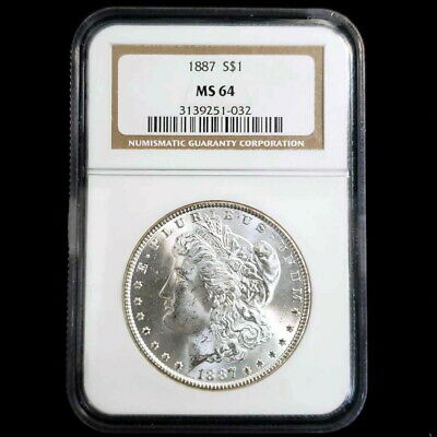 1887 US Morgan Silver $1 One Dollar NGC MS64 Rare Better Date! Coin PN1032