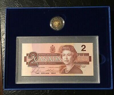 1996 Canada's $2 Proof Coin and Bank Note Set