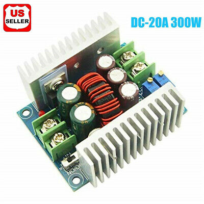 DC-DC Converter 20A300W Step Down Buck-Boost Power Adjustable Charger Board Tool