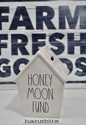 Rae Dunn HONEYMOON FUND Money Piggy Bank Birdhouse  NEW '19