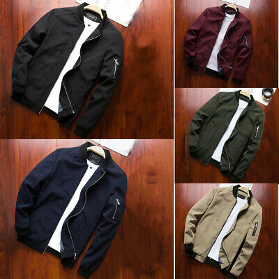 Men's Autumn Winter Outwear Military Jackets Casual Cotton Collar Jacket Coat UK