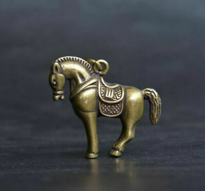 Collection China's archaize pure brass horse small statue