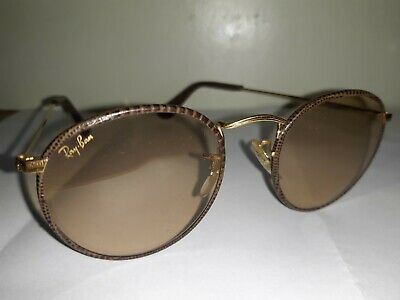 Vintage RAY-BAN B&L Snakeskin Round Transitional Sunglasses - 50mm NO RESERVE