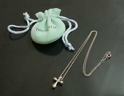 Authentic Tiffany & Co. Necklace cross Sterling Silver #9367