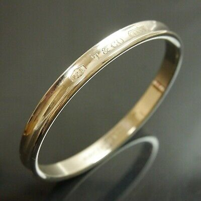 Authentic Tiffany & Co. Bracelet Bangle 1837 Sterling Silver #8299