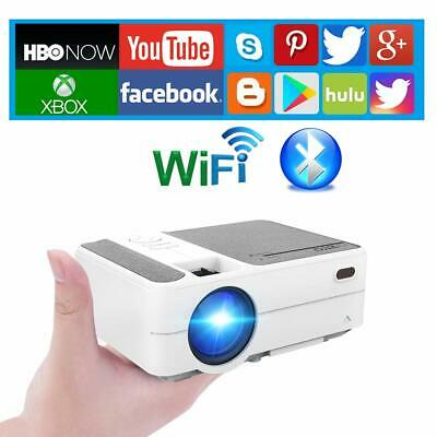 Portable Android 6.0 LED Projector Wifi Home Cinema App Sports Game KTV Party AU