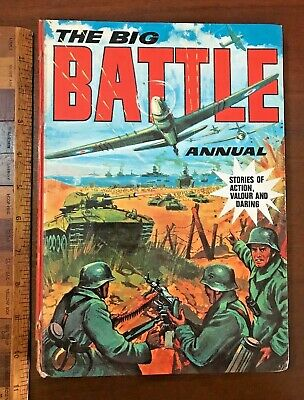 Vintage 1970S Battle War Comic Story Book Annual Hb Uk Nazis In Trouble Cover!!!