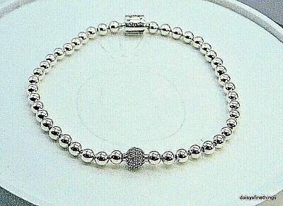 New/Tags  Authentic Pandora Silver Bracelet Beads And Pave #598342Cz