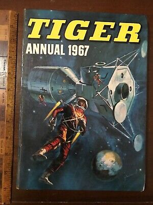 Vintage 1967 Tiger War Sci-Fi Space Wrestling Comic Story Book Annual Hb Uk Exc!