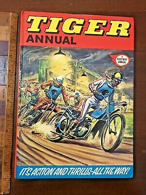 Vint 1975 Tiger Motorcycle Speedway Formula-1 Comic Story Book Annual Hb Uk Exc!
