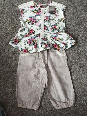 Girls Next Top And Trousers 2-3 Years New