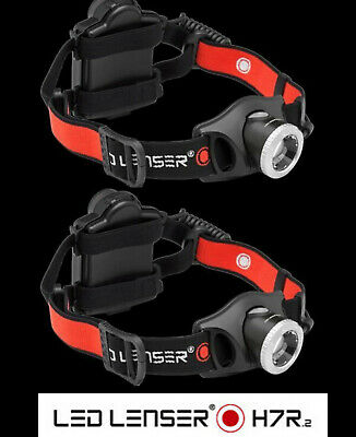 LED LENSER H7R.2 TWIN PACK Li-Ion Rechargeable HEAD LAMP TORCH FLASHLIGHT