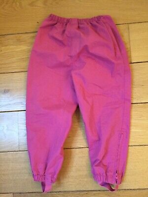 Girls Pink Pack Away Waterproof Trousers By JoJo Maman Bebe - Age 4-5 Years