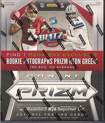 2019 Panini Prizm Football Retail Mega Box - 10 packs - Rookie Green Prizm Auto