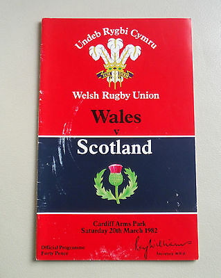 Wales V Scotland Rugby Union Cardiff Arms Park-March 1982 ^