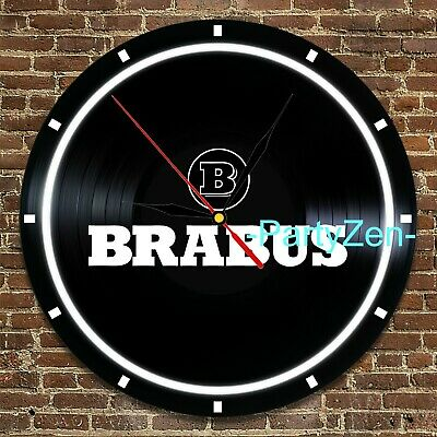 Mercedes Brabus logo inspired Vinyl Record Round Clock 3D Wall Decor Art Gift