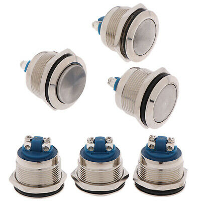 1Pc Momentary Push Button Switch 22mm Waterproof Flush Mount Button SwitchES