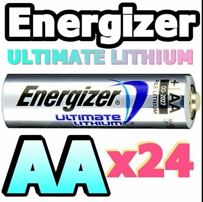 **EXPIRY 2039** 24 x ENERGIZER ULTIMATE AA LITHIUM BATTERIES LR6 L91 1.5v Camera